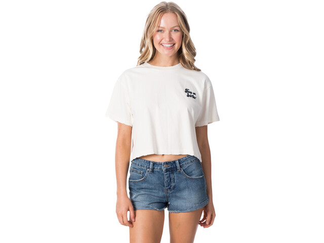 Rip Curl Keep On Surfin Crop T-shirt Dames, bone